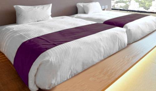 ホテルの寝具と、旅館の寝具は、どう違う