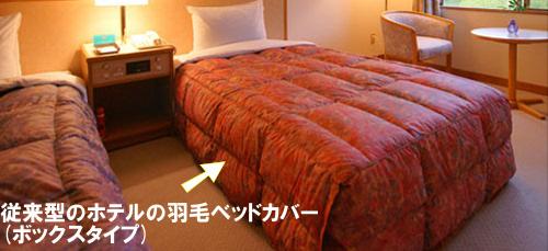 従来型のホテルの羽毛ベッドカバー(ボックスタイプ)