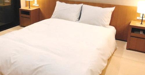 旅館やホテルのシーツ